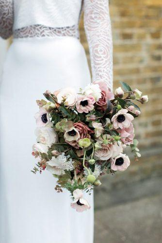 popular wedding flowers with blush roses and anemones petalon_flowers via instagram