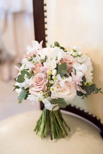 popular wedding flowers with blush roses and small chamomile fiona kelly photography