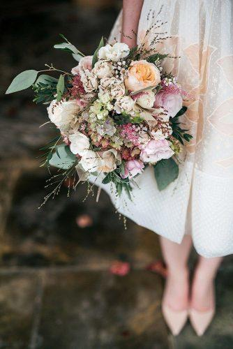 popular wedding flowers with peonies and pastel colorful flowers jordanna marston