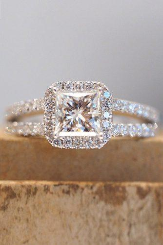 halo princess cut engagement rings 2