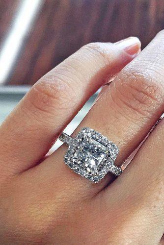 princess cut halo engagement rings 1