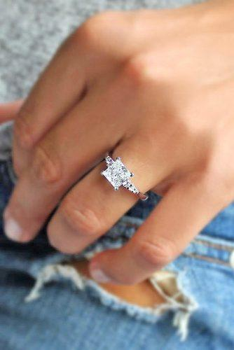 Princess cut diamond engagement rings 1