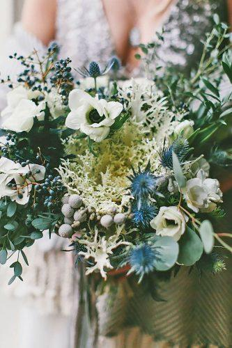 gray wedding bouquets 23