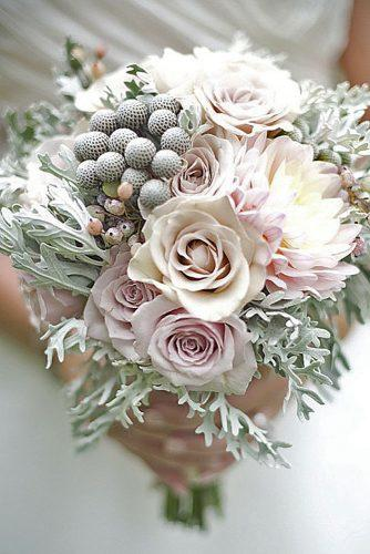 gray wedding bouquets 20
