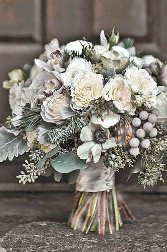 gray wedding bouquets 6