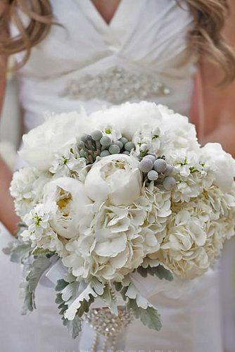 silver grey wedding bouquets 2