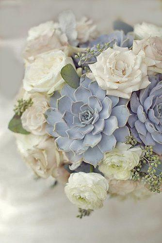silver gray wedding bouquets 5