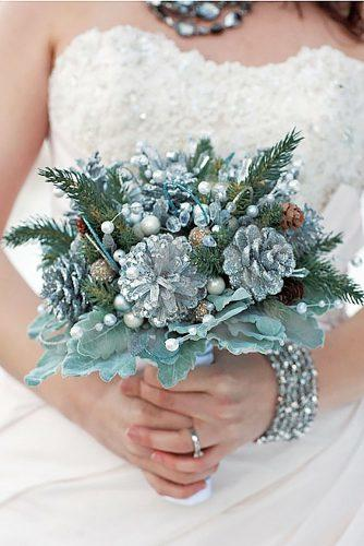 silver grey wedding bouquets 3