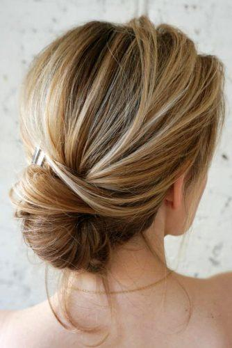 wedding bun hairstyles low blonde twisted for medium length sarahwhair