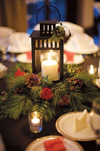 winter wedding table decorations 2