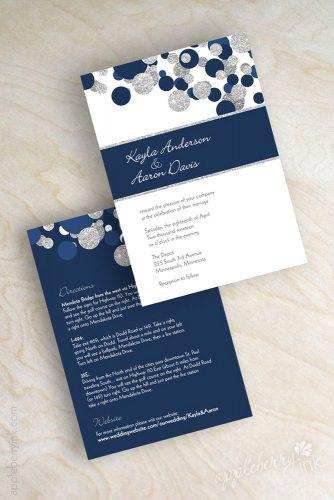 wintry wedding stationery 1