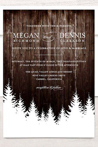 rustic wintry wedding invitations 3