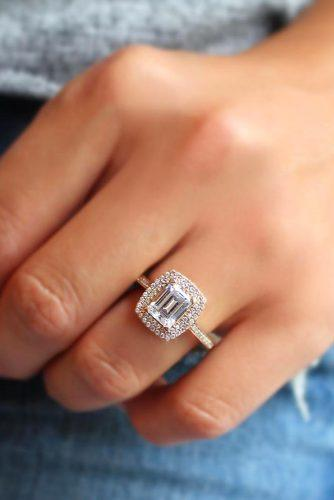 emerald cut rings in rose gold 1