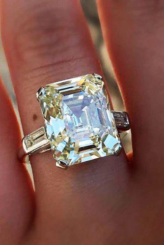 emerald cut engagement rings solitaire simple diamond