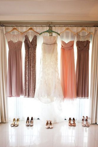 hanging wedding dress bridesmaid bridal gowns finding light photography