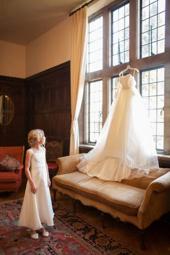 hanging wedding dress flower girl indoor krista lee photography