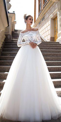 long sleeve bridal gowns by ida torez 5