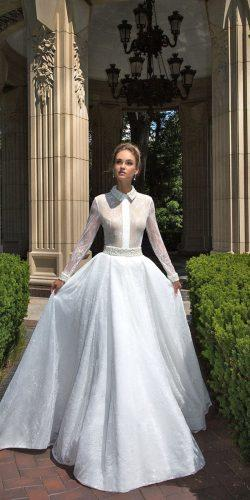 long sleeve bridal gowns by ida torez 4