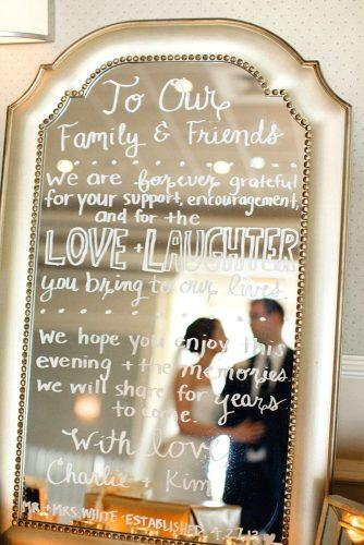 mirror wedding signs 1