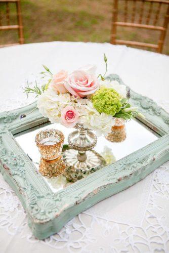mirror vintage wedding decor ideas 2