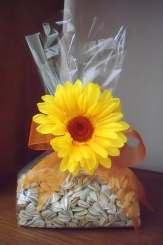 sunflower wedding decor ideas bag of seeds joanne kennedy