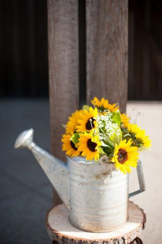 sunflower wedding decor ideas bailer with flower blue rose photography
