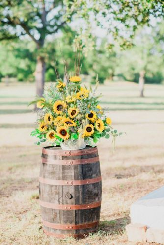 sunflower wedding decor ideas barrel kati hewitt