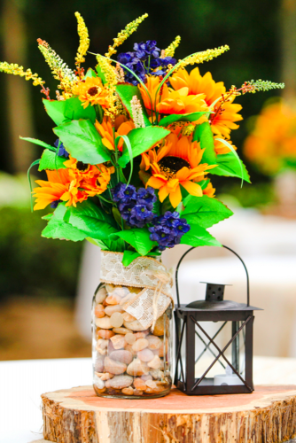 sunflower wedding decor ideas idea sunflower composition lisapricephotography