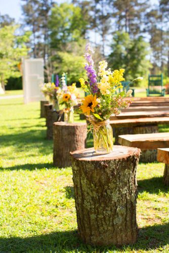 sunflower wedding decor ideas sunflower aisleerinlindseyimages