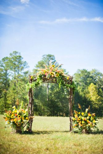 sunflower wedding decor ideas sunflower arch thescobeys