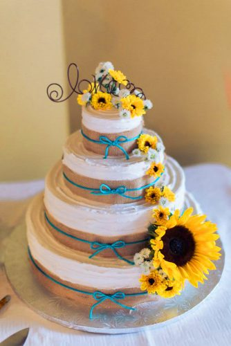 sunflower wedding decor ideas sunflower big cake tylerrippel