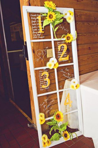 sunflower wedding decor ideas sunflower door jesse giles photography