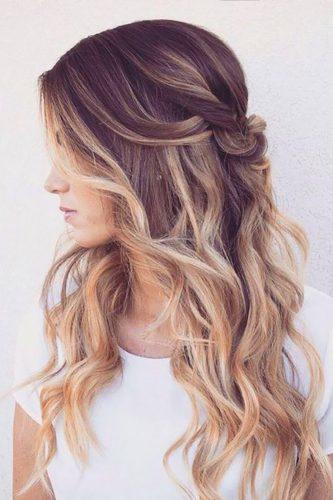 curly wedding hairstyles for-long hair ombre hairandmakeupbysteph
