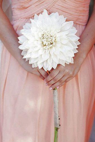 single bloom wedding bouquets 6
