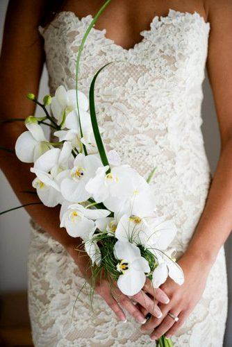 single bloom wedding orchids bouquets 2