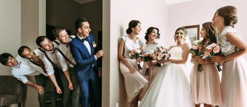 cute wedding ideas wedding party with newlyweds