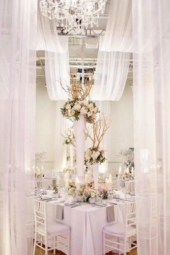 wedding receptions with white light cloth and candles hongphotography via instagram