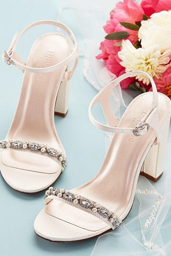 comfortable wedding shoes sparkle blush davids bridal