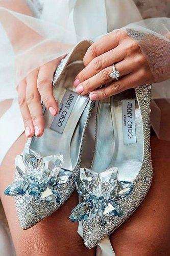 comfortable wedding shoes stylish sparkle silver with rhinestones limmy choo
