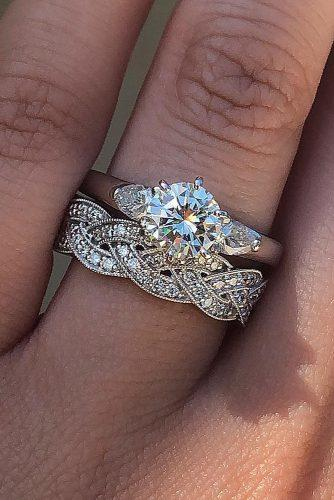 diamond wedding rings round cut white gold vintage