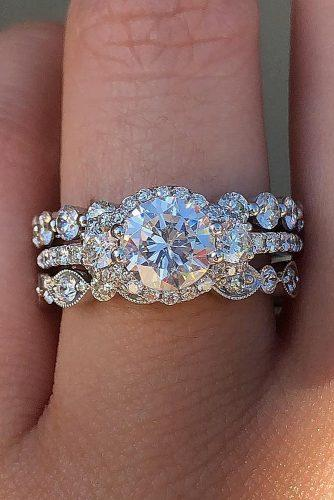 diamond wedding rings vintage round cut gold