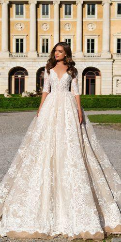 lace long sleeve wedding dresses by millanova 1