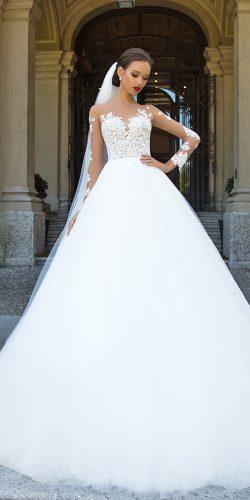 lace long sleeve wedding dresses by millanova 5