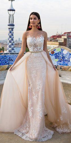 millanova wedding dresses 2017 overskirt lace details gowns