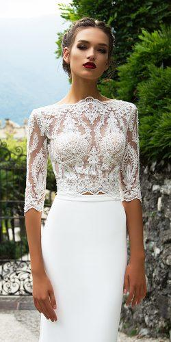 a line lace long sleeve bridal dresses by milla nova 2