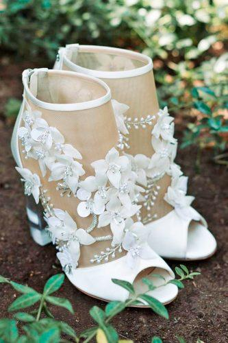 vintage lace floral illusion comfortable wedding shoes paulandrew