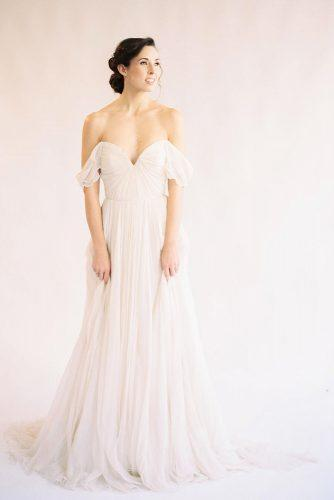 ballet wedding dress ideas off shoulder bridal gown