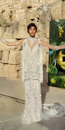 boho chic wedding dresses with vintage hand embroidered by gala galia lahav