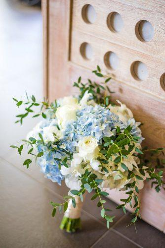 bridesmaid wedding bouquets brue flowers white roses and greenery darinimages