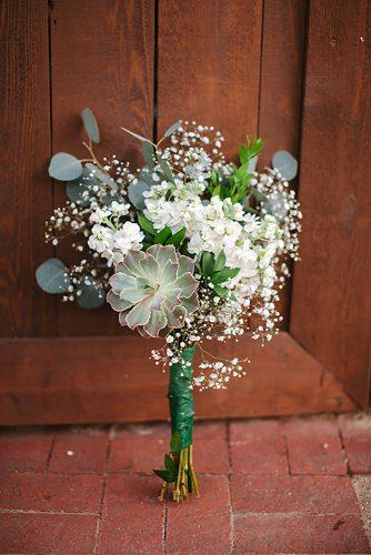 bridesmaid wedding bouquets small bouquet with succulents and baby breath unearthed photography